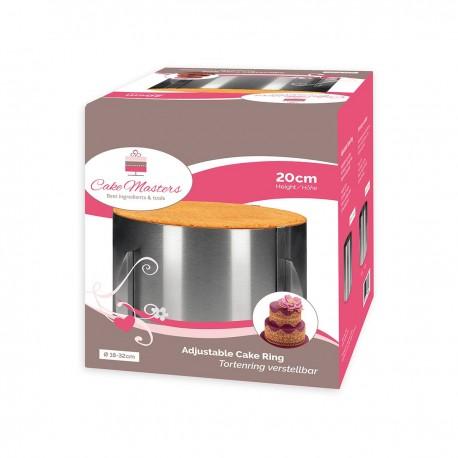 CakeMasters CM14931 Cake Ring / nastavljiv obroč za torto / 18-32 cm / 20 cm