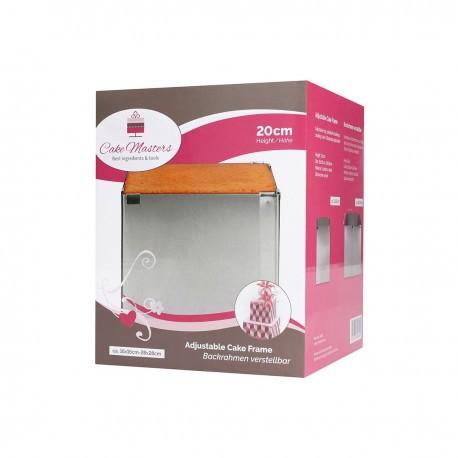 CakeMasters CM14932 Cake Ring / nastavljiv obroč za torto / 16x16/28x28 cm / 20 cm