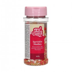 FunCakes F51620 Dekorativni posip Sprinkle Medley Jolly 65 g