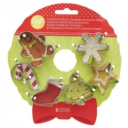 Set mini modelčkov za piškote Wilton XMS 02-0-0382 Wreath 6 kos