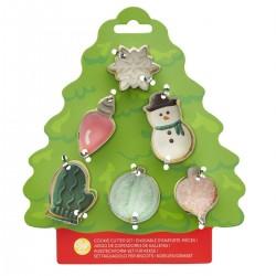 Set mini modelčkov za piškote Wilton XMS 02-0-0385 Tree 6 kos