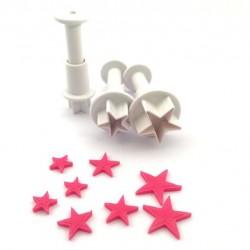 Decofee DF00542 Mini Plunger Stars /  Set modelčkov za izrezovanje zvezda 3 kos