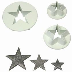 Set modelčkov za piškote  XMS PME SA701 Star 3 kos