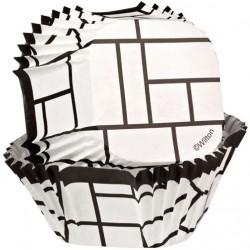 Papirčki za peko  415-0666  Square White 24 kos