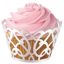 Cupcake Wrap  415-0111 Picket Fence White 18 kos
