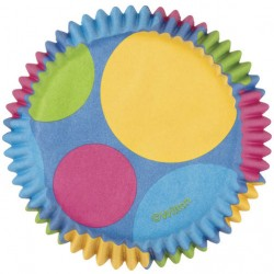 Papirčki za peko muffinov 415-1150 Dots Light Pink 75 kos