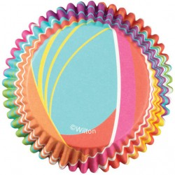 Papirčki za peko 415-0626 Stripes Rainbow 36 kos