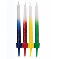 Svečke za torto Wilton 2188-3663 Shimmer Candles Rainbow